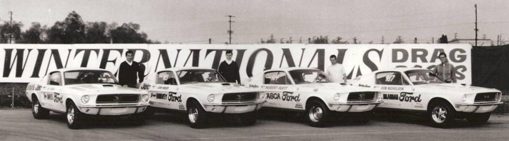 428 Cj Mustangs At The 1968 Nhra Winternationals Mustang 428 Cobra