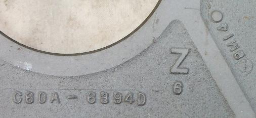 Bellhousing Engineering Number and Date Code
