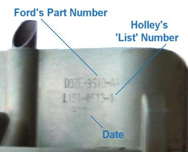 Holley 4150 Parts Diagram