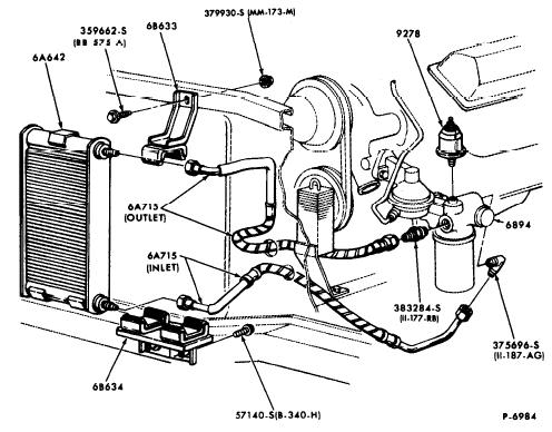 Id Scj Oil Cooler And Lines on mustang engine parts