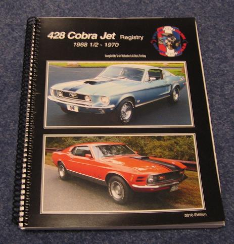Registry Books | Mustang 428 Cobra Jet Registry