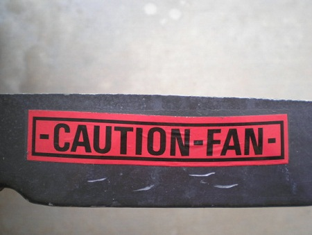 Caution Fan Sticker