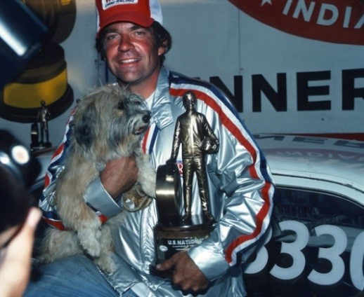 Bruce Sizemore and Muffin at the 1978 NHRA US Nationals